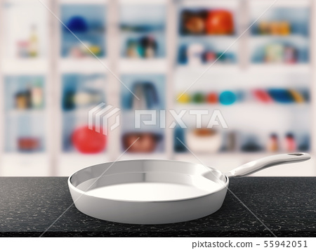 empty pan with kitchen background 55942051
