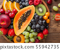 Fresh raw organic summer berries and exotic fruits 55942735