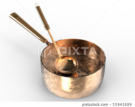 sauce pan with ladle 55942889