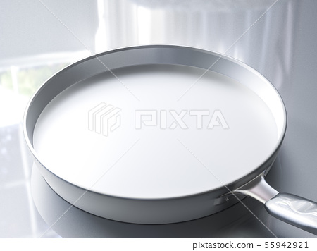 empty stainless steel pan 55942921