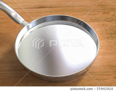 empty stainless steel pan 55942928