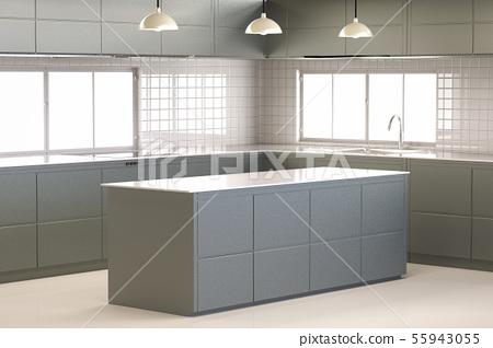 empty kitchen 55943055