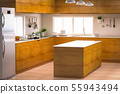 kitchen interior with empty counter 55943494