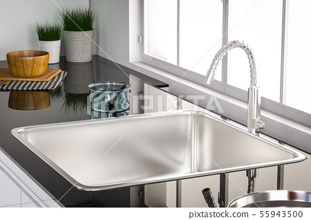 kitchen sink and faucet 55943500