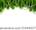 Merry Christmas Happy New Year background fir 55944037