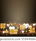 Holiday festive background with gift boxes and 55944684