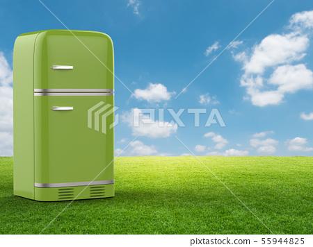 green refrigerator 55944825
