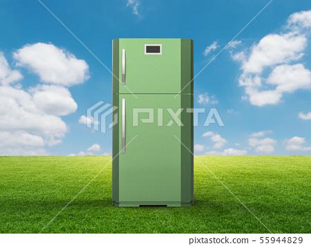 green refrigerator 55944829