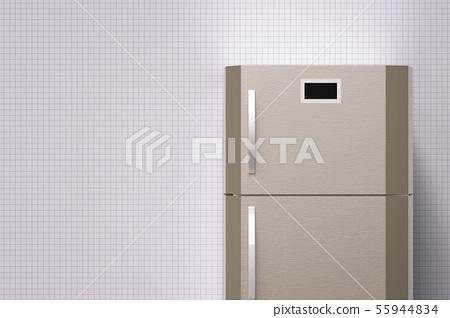 grey fridge with blank space 55944834