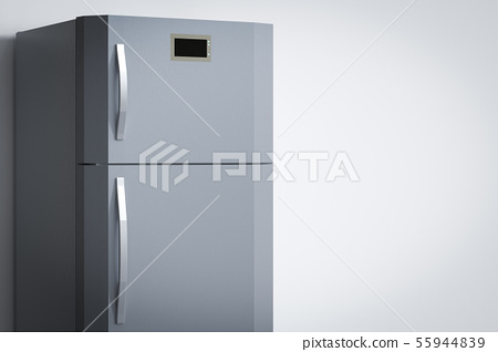 grey fridge with blank space 55944839