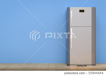 grey fridge with blank space 55944844