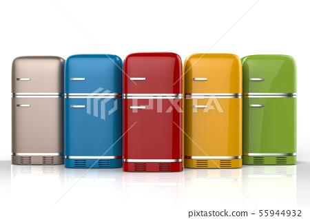 fridges in a row 55944932