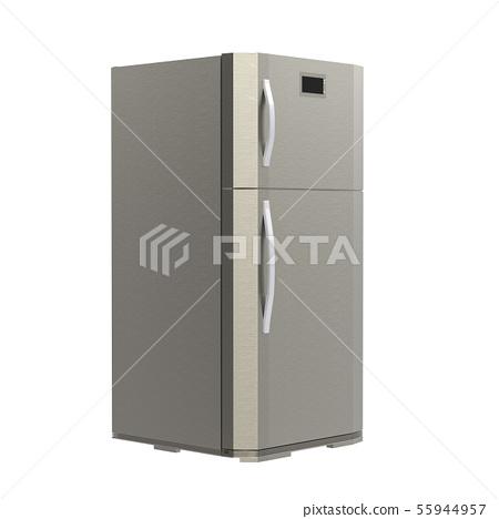 grey new fridge isolated on white 55944957