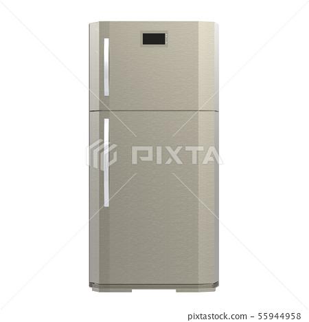 grey new fridge isolated on white 55944958