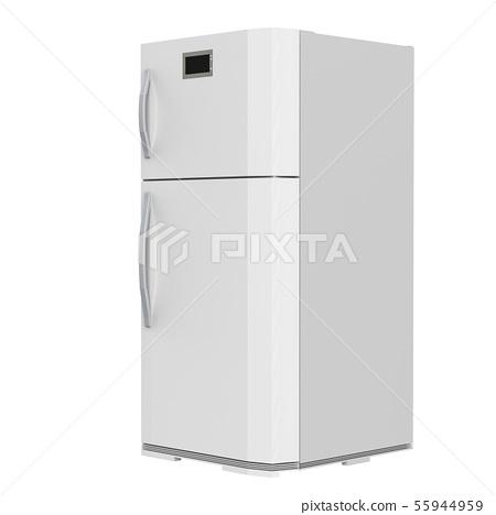 grey fridge isolated on white 55944959