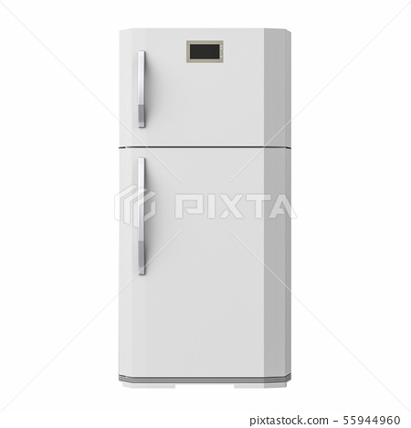 grey fridge isolated on white 55944960
