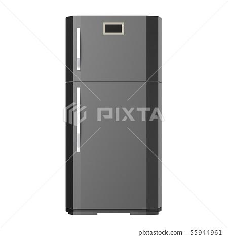 grey new fridge isolated on white 55944961