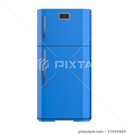 blue fridge isolated on white 55944964
