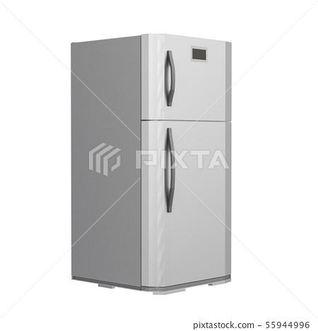 grey new fridge isolated on white 55944996