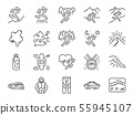 Trail running line icon set 55945107