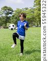 축구 팬 여성 55945322