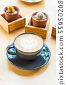 hot latte coffee cup 55950208