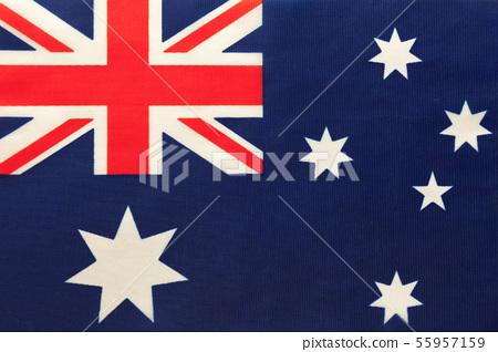Australia national fabric flag, textile 55957159