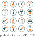 Work tools icons set 55958219
