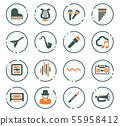 Music icons set 55958412