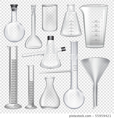Laboratory glassware instruments. Equipment for chemical lab 55959421