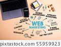Web marketing concept 55959923