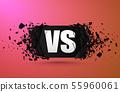 Versus explosion banner. 55960061