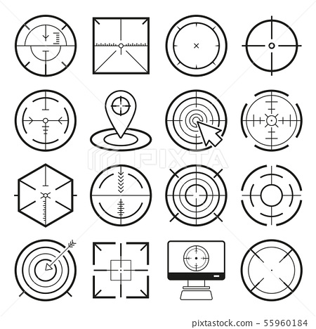 Different icon set of targets and destination 55960184