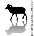 Mountain goat silhouette 55960387