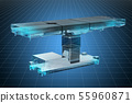 Visualization 3d cad model of operating table 55960871