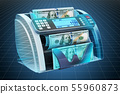 Visualization of money counting machine 55960873