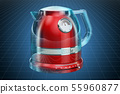 Visualization 3d cad model of electric tea kettle 55960877