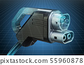 Visualization of Electric Car Charging Plug 55960878