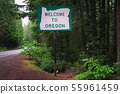 Welcome to Oregon State Sign 55961459