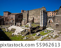 Ancient ruins of the Forum of Augustus in Rome 55962613