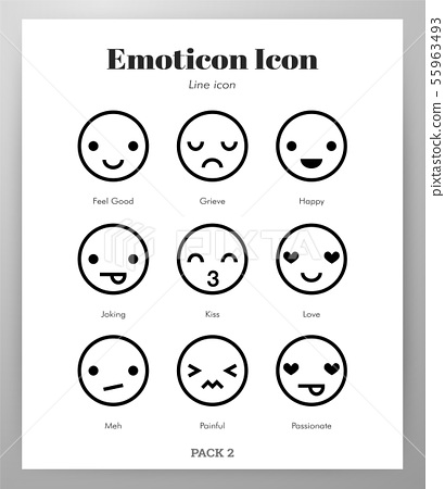 Emoticon icons Line pack 55963493