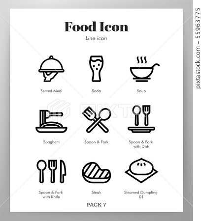 Food icons Line pack 55963775