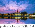 Night view of Mandalay Palace in Myanmar 55968258
