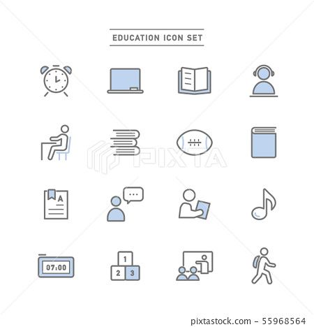 EDUCATION ICON SET 55968564