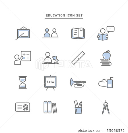EDUCATION ICON SET 55968572