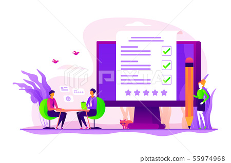 Employee Assessment Concept Vector Illustration Stock Illustration 55974968 Pixta Accuracy assessment of an image classification in arcmap. pixta