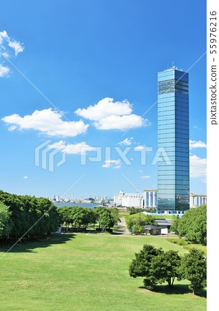 千葉在藍天的口岸塔 55976216