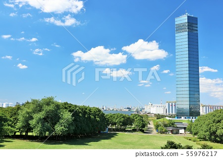 千葉在藍天的口岸塔 55976217