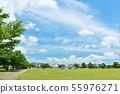 상쾌한 푸른 하늘 공원 풍경 55976271