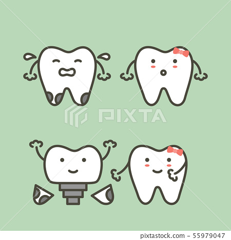 tooth implant, teeth change new root 55979047